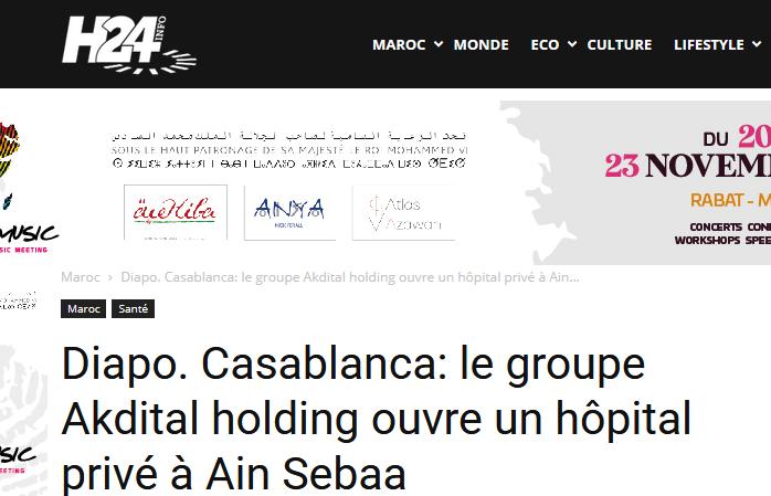 Diapo. Casablanca: le groupe Akdital holding ouvre un hôpital privé à Ain Sebaa
